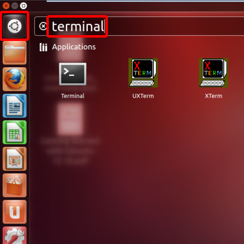 Open terminal application