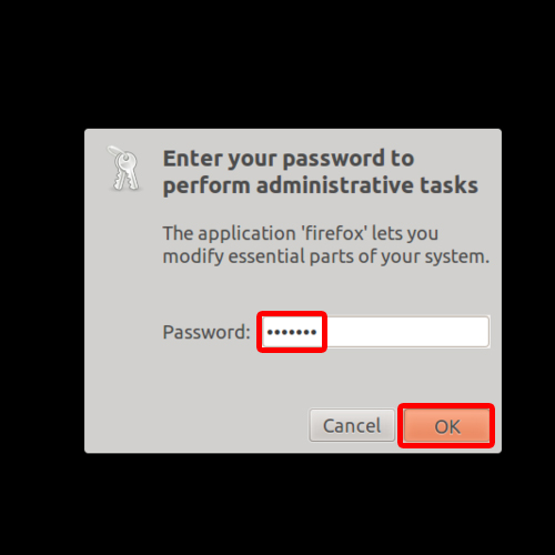 Password for administrative tasks