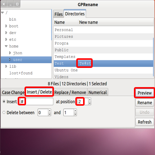 Add characters in the file name<