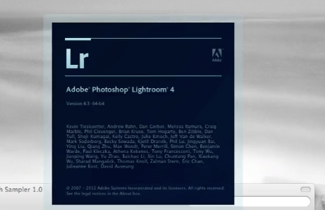 Quit lightroom and reopen
