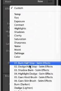 Click on brushes and in the effects drop down the new brushes will be present