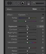 adjust the levels to the right to fine tune your brush
