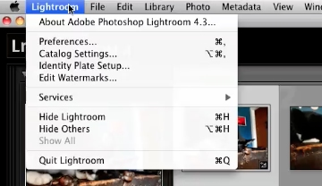 click the lightroom button in the top left corner