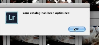 Click OK on the popup once it is done optimizing
