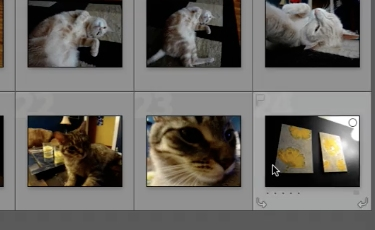 select the desired photo and hit the backspace button to delete