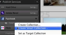 You can also create a smart collection