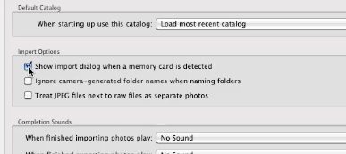 Uncheck the Show Import dialog so that lightroom will not turn on upon plugging a camera in
