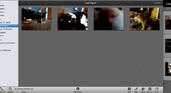 photos are now imported to iphoto