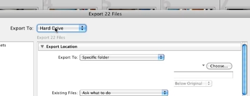 Choose where to save the exported Jpeg