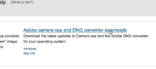 click the top link that says Adobe camera raw and DNG converter downloads