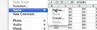 Select the define option