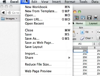 Go to File in the menu bar