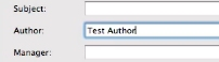Type in whatever name you want as the author