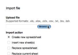 select the file you would like to import