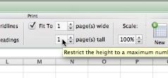 In Height box, select 1