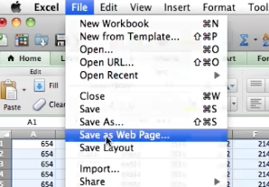 click file > save as webpage