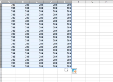 Auto population will happen as you drag your cursor across the spreadsheet