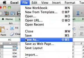 click file > save as
