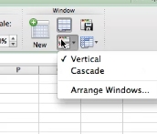 You can choose vertical or cascade to display your work