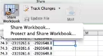 click on the share workbook option in the drop down