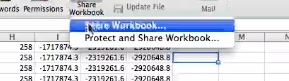 Select share workbook again