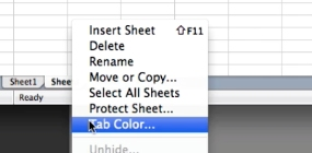 right click and select Tab color