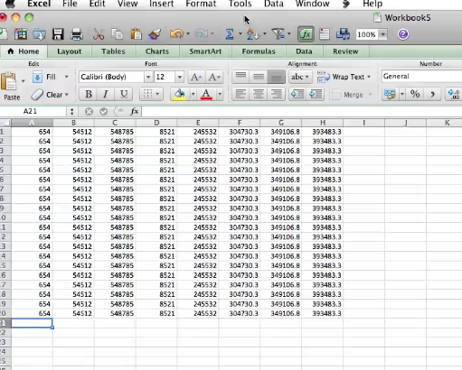 spreadsheets can have too much information and you might need to zoom in