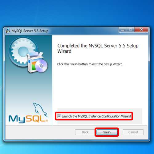 Finish mysql installation