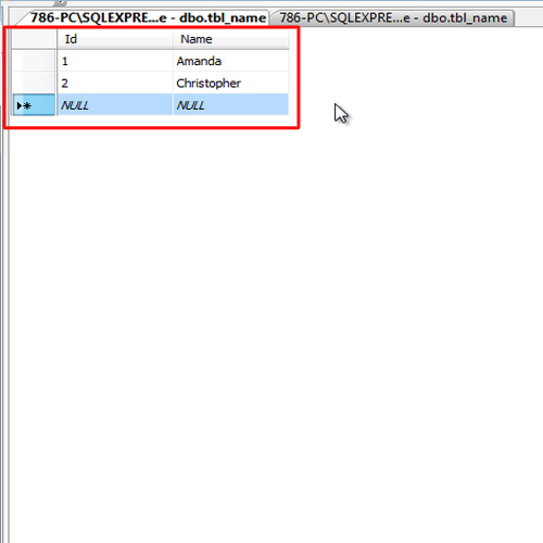 Populating the database table
