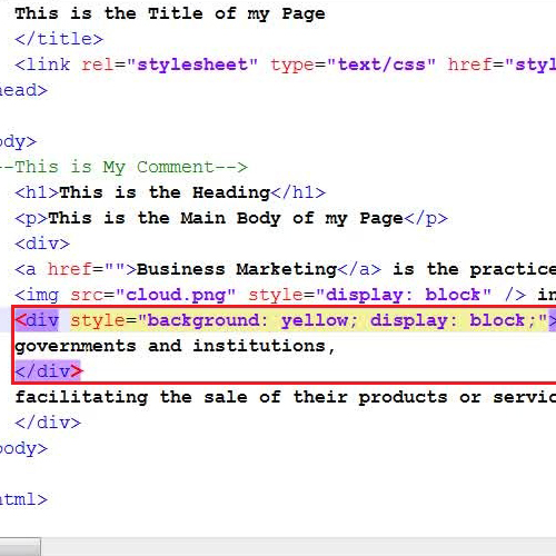 Replace the inline tag with block tag