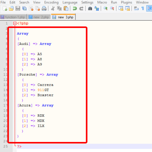 Assigning values to a multidimensional array