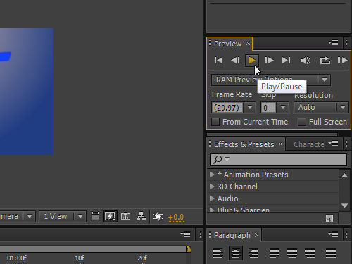 Playback the video to the first frame