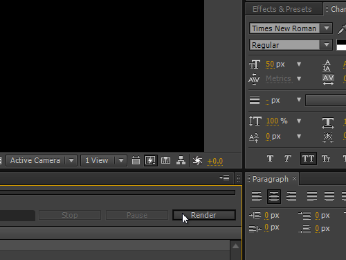 Begin the render process