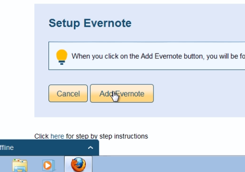 "press ""Add Evernote"""