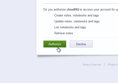"choose ""Authorize"""