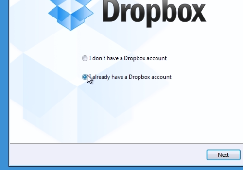 I already have a Dropbox account
