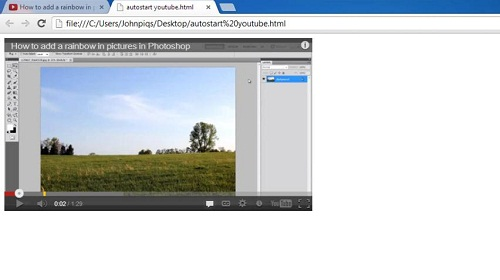 Video successfully auto-starting