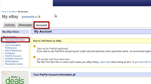 Navigating your account settings