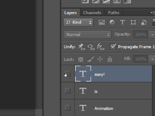 Hide all layers in the null frame