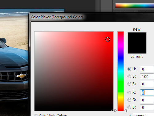 Set the color for the sketch effect