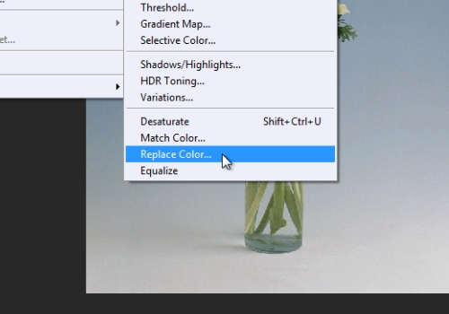 """select """"Replace color"""""""