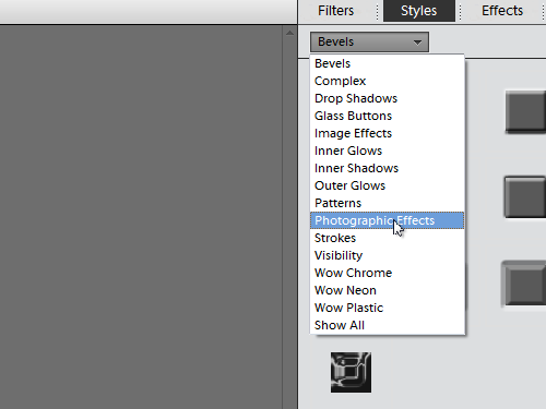 Open the Photographic Effects library