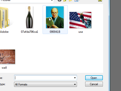 Select the image file