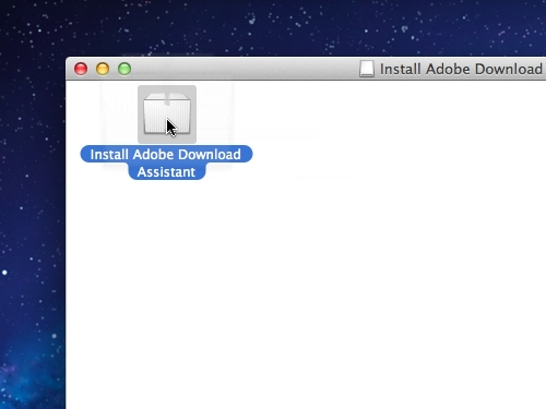 Launch the Adobe Download Assistant