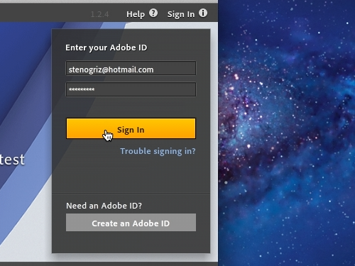 Sign up for the Adobe ID