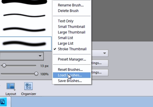 "choose ""Load brushes"""