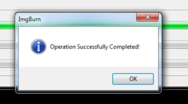 "window with the words ""operation successfully completed"""