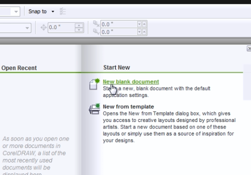 click New blank document