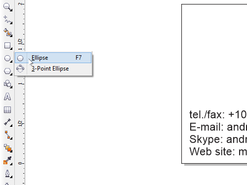Select the Ellipse Tool