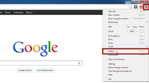 How to delete google quick search history howtech opening chromes history ccuart Choice Image